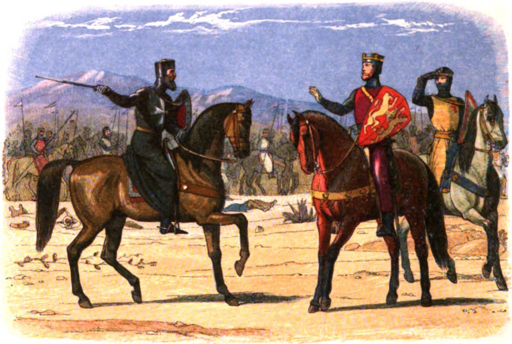 Painting of Richard and the Master of St. John (Hospitallers) by Edmund Evans, 1826-1905