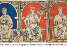 The Angevins: Henry the second, Richard the Lion hearted and John Lackland with insert of Henry the Young king