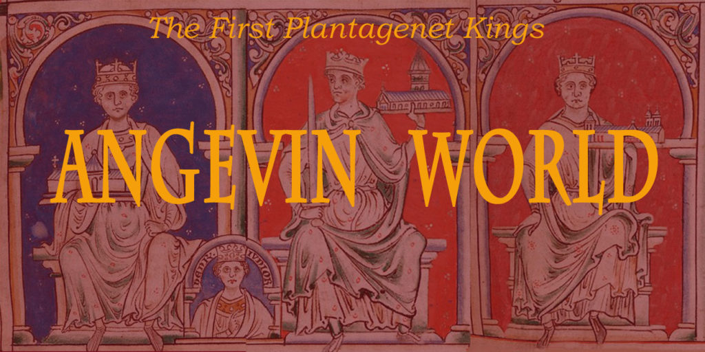 Angevin World logo with Angevin kings