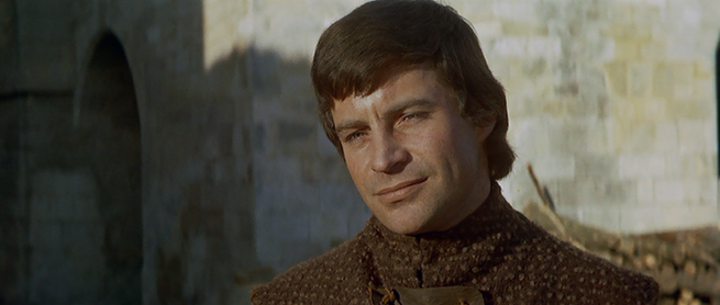 "Geoffrey in the movie ""The Lion in Winter"" (1968) as portrayed by John Castle"