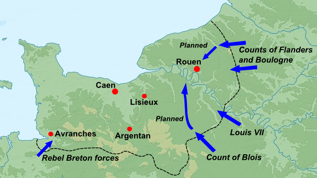 Events in Normandy, summer 1173