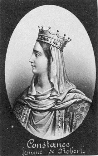 Lithograph of Constance, Duchess of Brittany