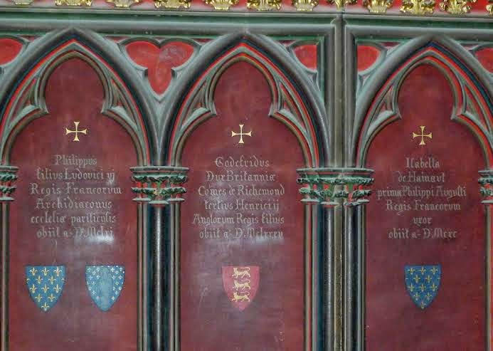 The tomb of Geoffrey II, Duke of Brittany