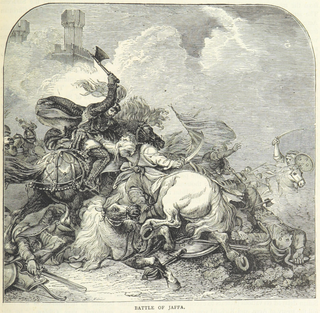 Richard I at the Battle of Jaffa 1192 by James Grant (1863)