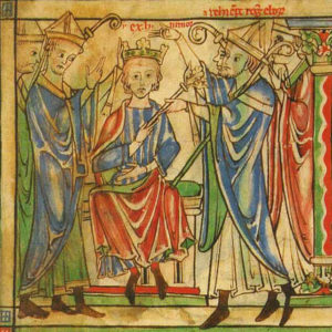 Painting of the Coronation of Henry the Young King