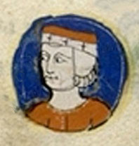 Medieval drawing of Geoffrey II, Duke of Brittany