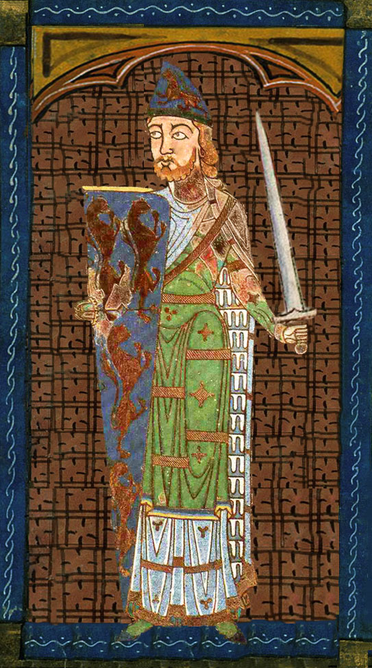 Medieval painting of Geoffrey Plantagenet, Count of Anjou
