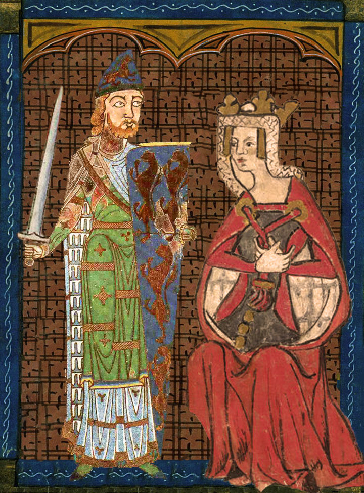 Portrait of Geoffrey Plantagenet and Empress Matilda