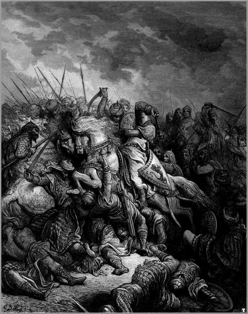 The Battle of Arsuf, by Gustave Dore