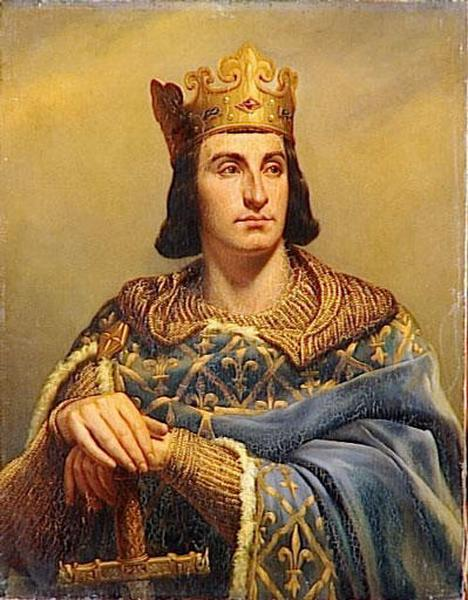 Painting of Philippe II of France 1165-1223 (by Louis-Felix Amiel, 1802-1864)
