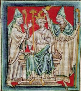 Drawing depicting the coronation of Richard I