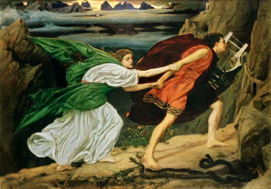 Painting of Orpheus and Eurydice by Edward Poynter, 1862