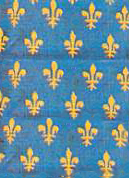 drawing of Fleur-de-lis pattern