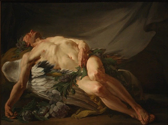 Painting of Morpheus by Jean-Bernard Restout, 1732-97