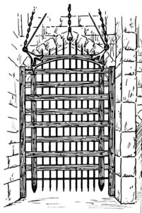 line drawing of a portcullis