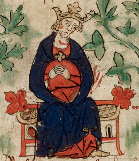 Drawing of King Henry I mourning his son