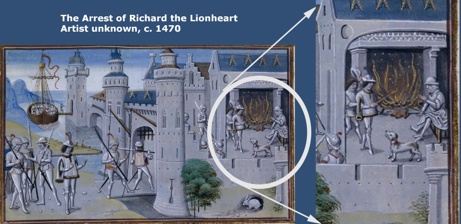 The Arrest of Richard the Lionheart as depicted c. 1470